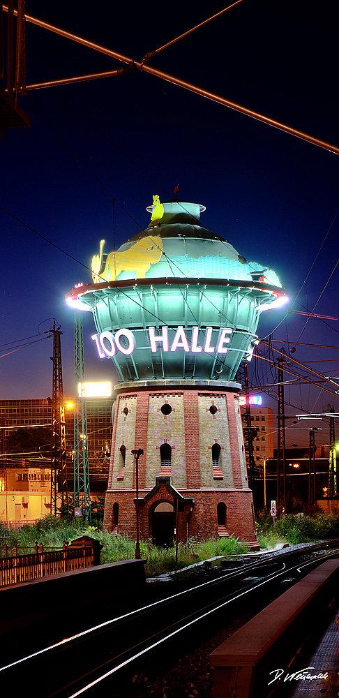 Wasserturm am Hauptbahnhof Halle / Saale