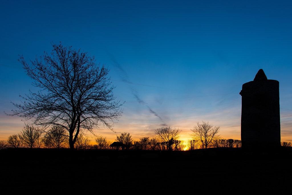 Eichstädter Warte bei Sonnenuntergang